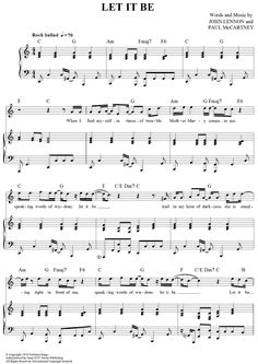 Let It Be Sheet Music Preview Page 1