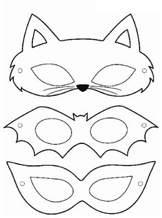 carnival mask molds - Eye Makeup tips Printable Masks, Printables, Printable Halloween Masks, Free Printable, Mascaras Halloween, Carnival Crafts, Spongebob Birthday Party, Mask Template, Cat Mask