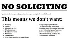 No Soliciting Sign For The Front Yard/door