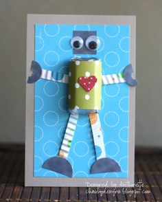 Chavez Designs: Robot Candy Valentines Day Treats
