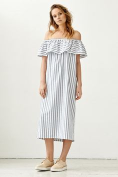 Tessa Midi Dress, Newport Stripe