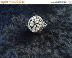 Cyber Monday Sale Vintage Rhinestone Ring Retro Collectible Costume Jewelry 90s by MartiniMermaid on Etsy https://www.etsy.com/listing/217913591/cyber-monday-sale-vintage-rhinestone