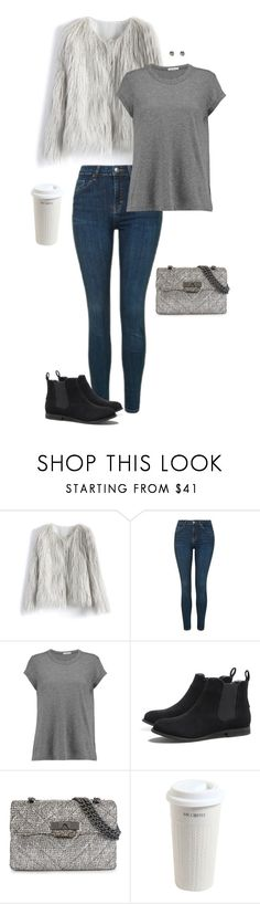 """""""Wow Factor: Faux Fur"""" by coolchick1630 ❤ liked on Polyvore featuring Chicwish, Topshop, James Perse, AX Paris, Kurt Geiger, Mr. Coffee, Wet Seal and fauxfur"""