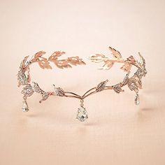 Remedios Elegant Rhinestone Leaf Wedding Headpieces Headband Bridal Tiara Crown, Rose Gold: Amazon.co.uk: Beauty