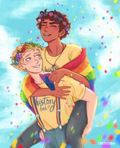 """sarah 🏳️🌈 on Instagram: """"happy pride alex and henry say gay fucking rights 🎉 - - - - - #rwrb #redwhiteandroyalblue #rwarb #historyhuh #firstprince…"""" Fanart, Lgbt Anime, Achilles And Patroclus, Azul Real, Red Queen, Book Characters, Book People, Book Fandoms, Book Worms"""