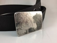 Campfire Belt Buckle Etched Stainless Steel  by RhythmicMetal