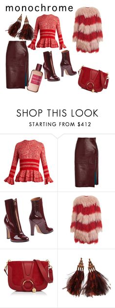 """""""Untitled #51"""" by olgamvslenkina ❤ liked on Polyvore featuring Alexander McQueen, By Malene Birger, Valentino, House of Holland, See by Chloé, Louis Vuitton and Atelier Cologne"""