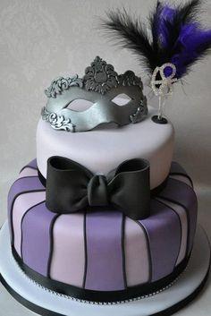 Masquerade birthday cake - Google Search