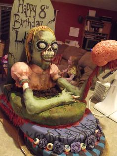 Zombie cake..I wouldn´t eat it but it´s awesome