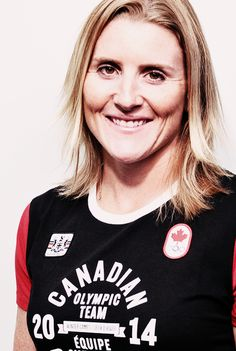 Hayley Wickenheiser is a player within the Canada women's national ice hockey team. She helped Canada win four gold medals at the Winter Olympics and and has seven World Championship gold medals and Women's Hockey, Ice Hockey Teams, Hockey Girls, Hockey Players, Olympic Athletes, Olympic Team, Usa Olympics, Winter Olympics, Hayley Wickenheiser