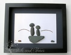 Personalized Fishing Gifts - Fisherman Themed Christmas Gift- One of a Kind Fishing Art - Stone Fishermen Gift - Pebble Art on Etsy, $75.00 CAD