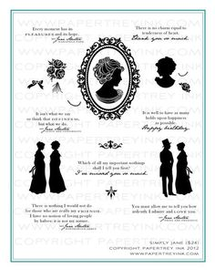 be still my literary heart~~ jane austin inspired stamsps from papertrey!
