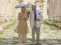 Prince Charles and Camilla visited the Roman ruins at Jerash, Jordan