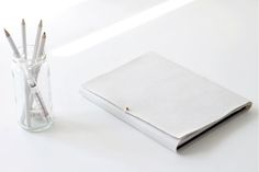 Cover a notebook in white leather... so chic /// 7 Gorgeous Back To School DIYs (Perfect For Your Office, Too!)
