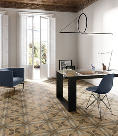 "Da Sant'Agostino Ceramica, pavimenti e rivestimenti in gres porcellanato decorato, con effetto ""intarsi in legno"". A Roma, vieni a scoprirli da Realprogetti sas Minimal Design, Modern Design, Blue Furniture, Wall Installation, Wall And Floor Tiles, Decoration, Dining Bench, Family Room, Flooring"