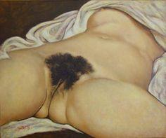 "Gustave Courbet (1819 - 1877) ""The Origin of the World/L'Origine del Mondo"" (1866) oil on canvas cm 46x55 Musée d'Orsay Paris"