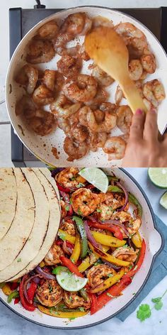 EASY SHRIMP FAJITAS Shrimp fajitas recipe is so easy to make and so delicious. Loaded with juicy shrimps, bell peppers, onions with loads of flavors. It is the perfect lunch or dinner recipe that's healthy and always a winner among friends and family. Healthy Dinner Recipes, Cooking Recipes, Shrimp Dinner Recipes, Cajun Shrimp Recipes, Easy Cooking, Shrimp Fajitas, Chicken Fajitas, Shrimp Fajita Recipe, Chipotle Chicken