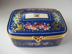 TIFFANY & Co 1982 PRIVATE STOCK PORCELAIN TRINKET BOX LE TALLEC LIMOGES FRANCE