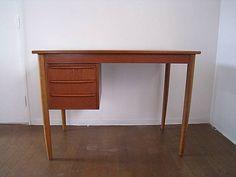 1950 60年代北欧デンマーク製片袖デスク 机ウェグナーチーク材 インテリア 雑貨 家具 Scandinavian teak furniture ¥48000yen 〆04月27日
