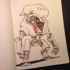 Nuthin' But Mech: Jake Parker Sketchbook Dump