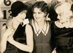 Jean Arthur, Clara Bow and Jean Harlow