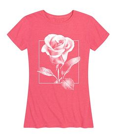 Instant Message Womens Heather Fruit Dove Rose Relaxed-Fit Tee - Women | Best Price and Reviews | Zulily
