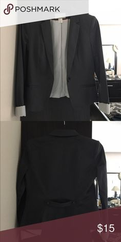 Grey H&M Blazer Grey H&M blazer. In great condition, hardly worn. Blazer has striped interior. Very cute. Can be worn casually with jeans or in the office with slacks. H&M Jackets & Coats Blazers