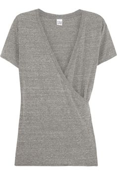 OAK | Karate wrap-effect jersey T-shirt | NET-A-PORTER.COM