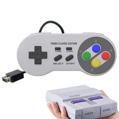SNES Classic wired Controller with turbo SNES Classic Accessories Snes Classic, Game Controller, Games, Mini, Accessories, Gaming, Plays, Game, Toys