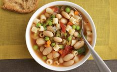 Minestrone with Spring Vegetables. Love soups!
