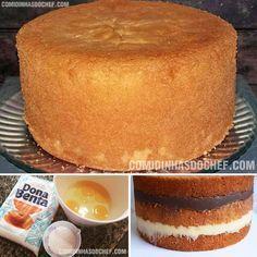 Birthday Cake Dough- Massa de Bolo de Aniversário How about learning how to make cake batter … - My Recipes, Sweet Recipes, Cake Recipes, Dessert Recipes, Favorite Recipes, Love Eat, I Love Food, Portuguese Recipes, Vanilla Cake