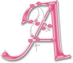 Alfabeto Decorativo: Alfabeto - Florido Rosa Brilhante - PNG - Maiúsculas e Minúsculas - DOWNLOAD.