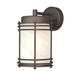 Westinghouse 6230700 Parksville One-Light Exterior Wall Lantern, Oil Rubbed Bronze Finish on Steel with White Alabaster Glass - 2 Pack Westinghouse http://www.amazon.com/dp/B00MQ9D3BQ/ref=cm_sw_r_pi_dp_Vfqsvb13H5CMB