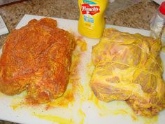 Pork Butt - Slathered With Mustard & Rub - The Virtual Weber Bullet Smoked Meat Recipes, Rub Recipes, Roast Recipes, Cooking Recipes, Smoker Recipes, Crockpot Recipes, Recipe Tips, Barbecue Recipes, Barbecue Sauce