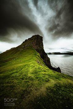 Trøllanes, Kalsoy island. - Trøllanes, Kalsoy island.