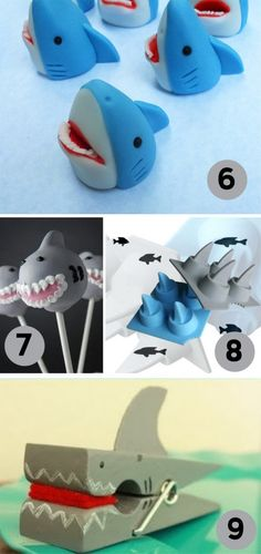 Shark Birthday party crafts, treats and fun ideas!