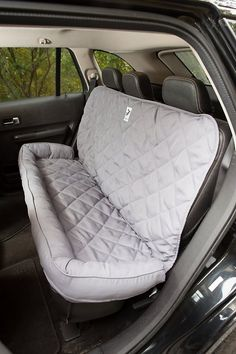 Quilted back seat protector with bolster offers a comfortabl.-Quilted back seat protector with bolster offers a comfortable space to your pet., Quilted back seat protector with bolster offers a comfortable space to your pet. Pet Dogs, Dogs And Puppies, Dog Cat, Doggies, Chihuahua Dogs, Dog Car Seats, Dog Car Seat Covers, Seat Protector, Back Seat