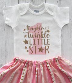 Twinkle Twinkle Little Star First Birthday by noellebydesign