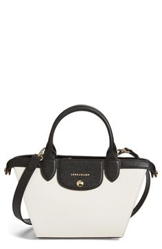 Longchamp 'Small Le Pliage - Heritage' Leather Handbag available at #Nordstrom
