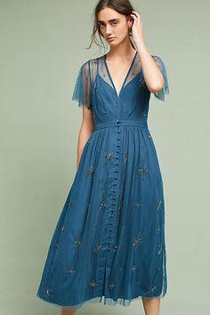 Chan Luu Lille Beaded Midi Dress