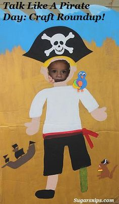 Pirate craft round up - some cute ideas here!