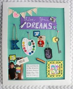Create an inspirational Vision Board for Kids! Kids Inspire, Board For Kids, Creating A Vision Board, Collage, Our Kids, School Projects, Dream Boards, Crafts, Art Education Resources