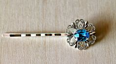 Something Blue Oval Hair clip (One) By Twinkle Jewellery - Bridal hairclips, Wedding Jewellery, Diamante, Rhinestone, Bobby Pins by twinklejewellery on Etsy