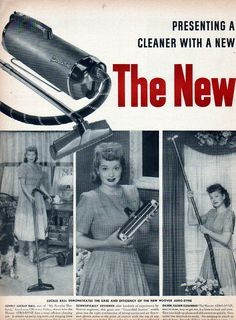 """Lucille Ball """"My Favorite Husband"""" Hoover Vacuum Cleaner home appliance ad-[-667"""