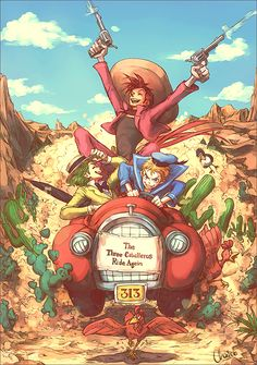 The Three Caballeros Ride Again by ~chacckco on deviantART  - Disney animals as humans