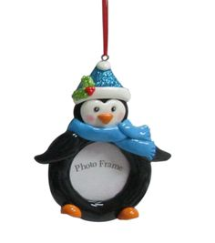 Maker's Holiday Penguin Frame Ornament