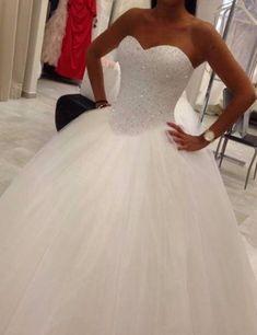 Sexy Wedding Dress,Tulle Wedding Dress,Backless Wedding Gown,Ball Gown Bridal Dress by fancygirldress, $245.00 USD
