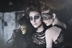 A Nordic Halloween  Photography by Miriam Janus from the Faroe Islands  Models: Marin Eidesgaard and Armgard Mortensen  (via dA: A Nordic Halloween by *MiriamJanus)    Wands by Larsen photoshoot idea
