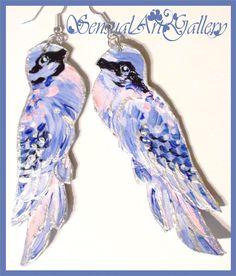 Kolczyki - niebieskie ptaszki