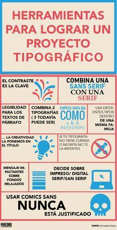 Herramientas para lograr un proyecto tipográfico #infografia